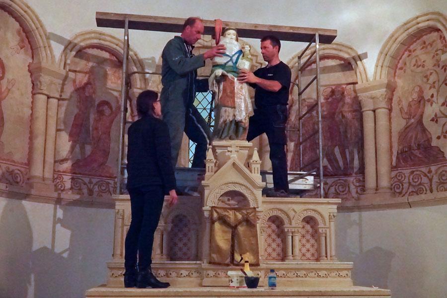 Notre Dame de Savigny - retour de restauration © Annie Drieu