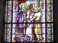 Église de Savigny - vitrail de la nef © Lemesle