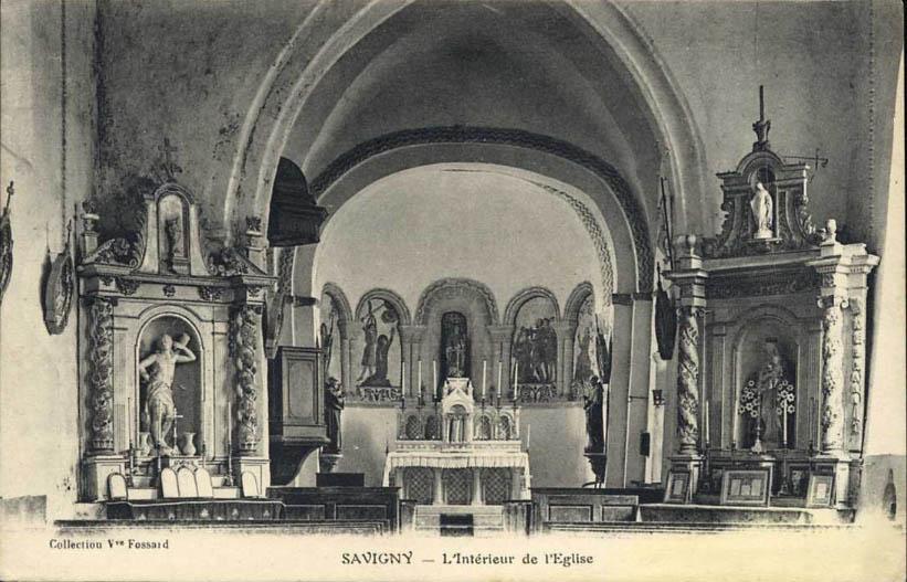 Savigny - l'église au début du 20e siècle