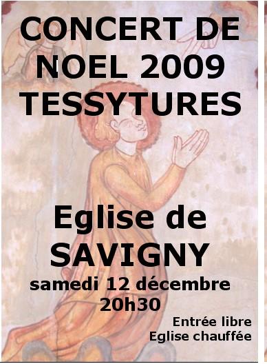 Affiche du concert de Noël 2009