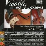 Affiche de l'animation musicale VIVALDI en 4 Saisons