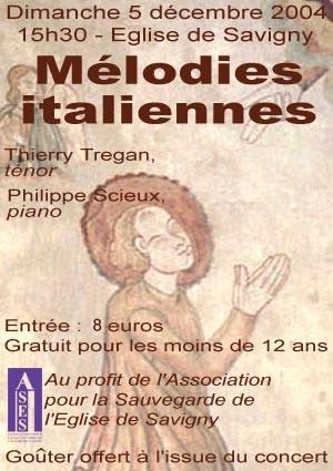 ASES - affiche concert 12-2004