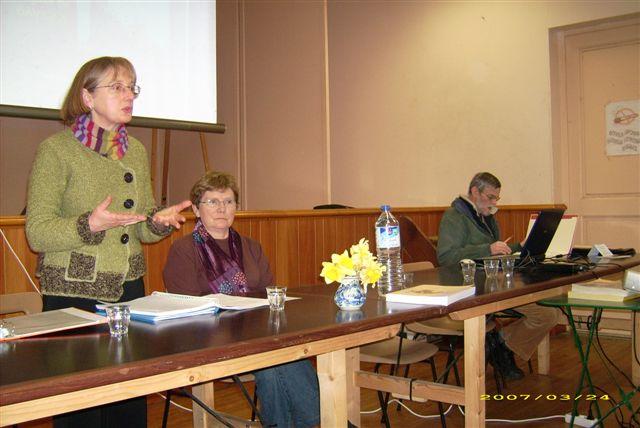 photo du bureau de l'ASES pendant l'assemblée générale