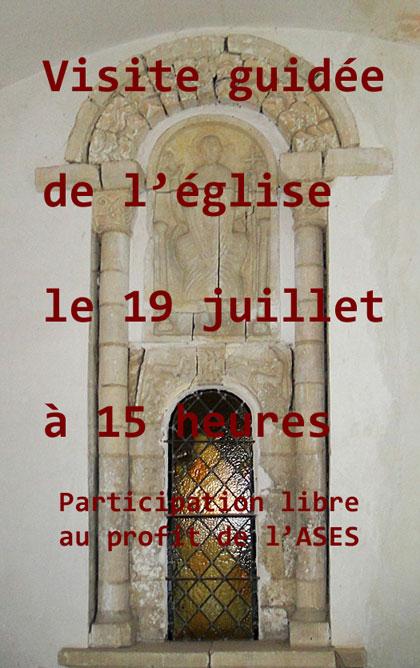 Affiche de rappelde la visite guidée du 19 jullet 2018